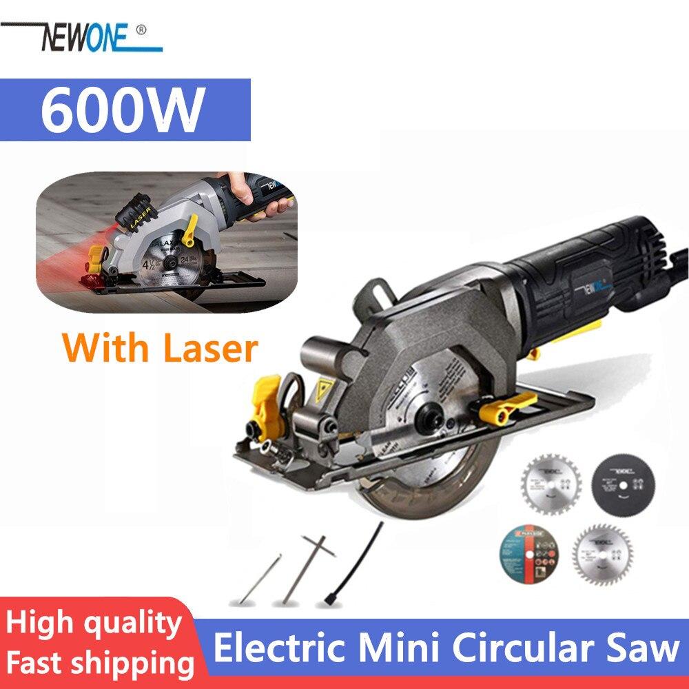 NEWONE Electric Mini Circular Saw With Laser Multifunctional Electric Saw DIY Power Tool For Cut WoodPVC tube
